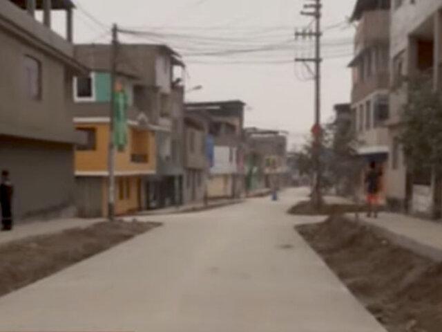 Vecinos de VMT denuncian que redujeron la pista en la nueva Av. Julio C. Tello