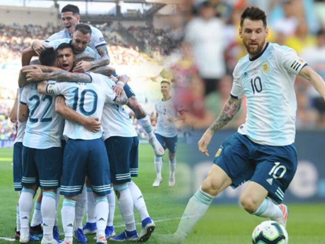 Argentina vence 2-0 a Venezuela y pasa a semifinales
