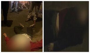 La Victoria: sujetos son 'pepeados' y abandonados en plena calle