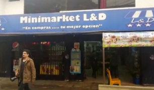 Comas: delincuentes armados asaltan minimarket