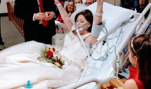 Mundo: personas que cumplieron sueño de casarse poco antes de fallecer