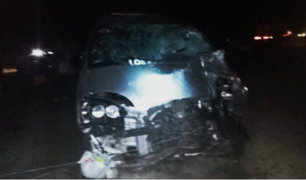 Áncash: choque entre mototaxi y minivan dejó 7 heridos y 1 fallecido