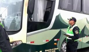 Panamericana Sur: realizan operativo de fiscalización a autos y buses interprovinciales
