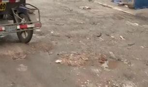 Comas: lavadores de carros dañan avenida Universitaria