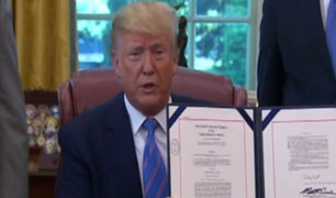 Donald Trump felicitó a AMLO por control de inmigrantes