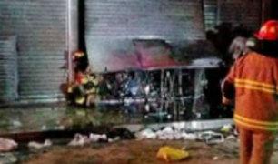 Trujillo: sujeto incendió local de ferretería