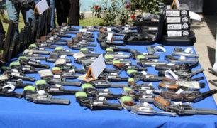 Sucamec: más de 10 mil armas de fuego ilegales serán destruidas