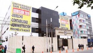 Sunedu: Universidad de San Andrés no logró obtener el licenciamiento