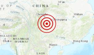 China: sismo de 5,6 remeció a la provincia de Sichuan