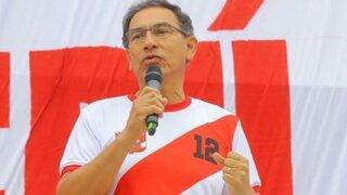 Martín Vizcarra a la 'Bicolor': Tienen el aliento de más de 30 millones de peruanos