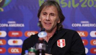 """Ricardo Gareca: """"Perú está en condiciones de ambicionar un campeonato"""""""
