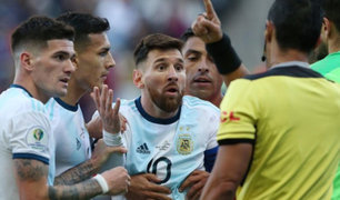 ¡Messi afuera! Esta es la segunda expulsión que Leo recibe jugando para su selección