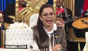 """Milagros Leiva celebró sus 50 años de vida en """"Porque hoy es sábado con Andrés"""""""