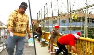 Venezolanos limpian, aromatizan y pintan nuestros caóticos puentes en Lima