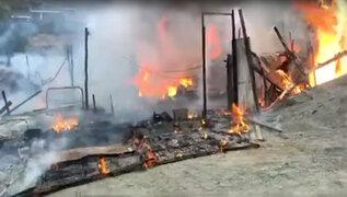 Santa Eulalia: incendio en taller pirotécnico deja dos heridos