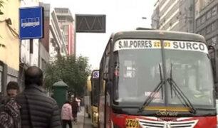 Instalan 17 paraderos de buses en avenidas Abancay y Manco Cápac