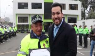 La Molina: reconocen a sereno que ayudó a frustrar secuestro de joven