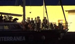 Italia: nuevo barco con inmigrantes llegó a Lampedusa