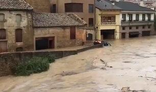 España inundada: fuertes lluvias causan desborde de ríos y generan caos