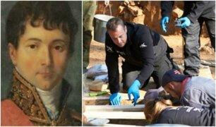 Rusia: hallan posibles restos del general favorito de Napoleón