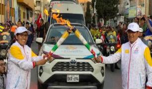 Panamericanos Lima 2019: antorcha ardió con fuerza en Huancayo