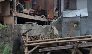 Sismo de 5.8 grados dejó heridos y daños en Filipinas
