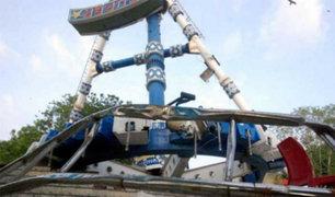 India: tragedia en  juego mecánico causa la muerte de dos personas