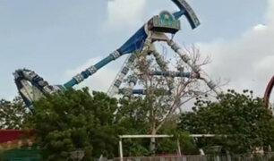 India: cierran parque de diversiones tras accidente en juego mecánico