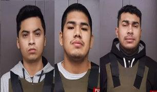 Policía presenta a tres miembros de banda criminal ´Los injertos del Cono Norte´