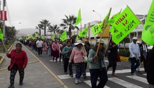 Tía María: bloquean calles de Mollendo en segundo día de protestas