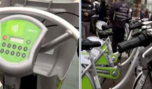Miraflores: inauguran primer sistema de transporte público de bicicletas