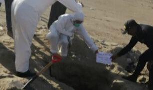 Piura: policía halla cuerpo enterrado y calcinado de mujer