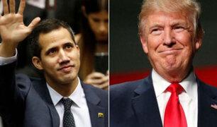 """Trump dará $42 millones a Guaidó para la """"buena gobernanza"""" en Venezuela"""