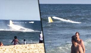 EEUU: avioneta aterriza de emergencia en la orilla de una playa de Maryland