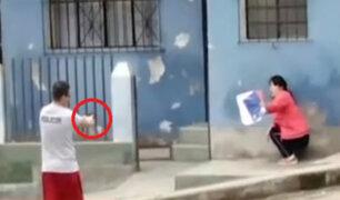 VMT: policía en aparente estado de ebriedad apuntó con arma a mujer