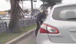 Chorrillos: conductor saca hacha durante conflicto vial