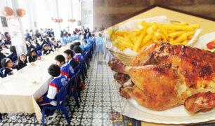 Niños del Puericultorio Pérez Araníbar celebraron por anticipado el Día del Pollo a la Brasa