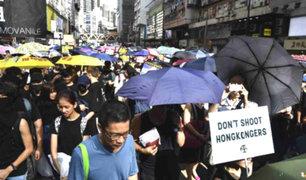Hong Kong: miles de personas volvieron a protestar contra el gobierno