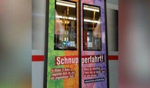 Perfuman vagones del metro de Viena para combatir malos olores