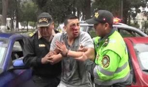 Pico y placa: conductor que casi arrolla a policía se mostró agresivo