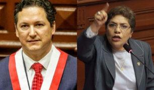 Luz Salgado y Daniel Salaverry tuvieron cruce de palabras por renuncia  de Janet Sánchez