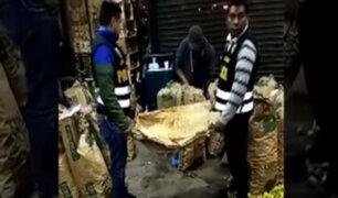 Hallan más de 400 kilos de droga en mercado mayorista de Santa Anita
