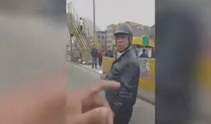 Vía de Evitamiento: captan a falso policía interviniendo a extranjero