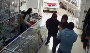 SMP: policías detienen a delincuentes en pleno asalto a veterinaria