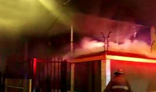 San Miguel: incendio se registró en vivienda por presunto corto circuito