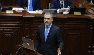 Premier del Solar y ministros ingresaron al Pleno del Congreso