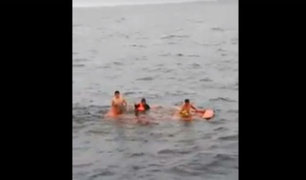 Pisco: rescatan a nueve pescadores que se encontraban perdidos en alta mar