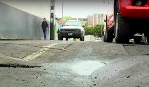 Surco: pista presenta huecos y desniveles tras dos meses de arreglos