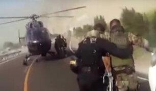 Tía María: policía es rescatado a bordo de un helicóptero tras protestas