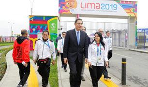Lima 2019: presidente Vizcarra visitó a deportistas en Villa Panamericana